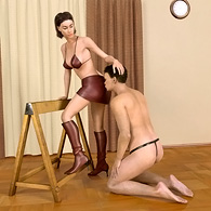 3D male humiliation