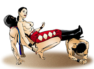 Female squeezing domination cartoons